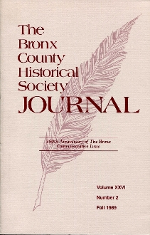 BCHS Journal 350th Anniversary of The Bronx Commemorative Issue